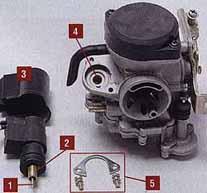 Пусковое устройство: 1 - дозирующая игла; 2 - цилиндр с уплотнением на...