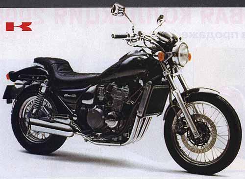 Чопперята. Чопперы и круизеры с объемом двигателя 400 см3. KAWASAKI ZL400 Eliminator.
