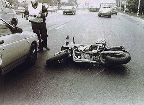 фото аварии мото