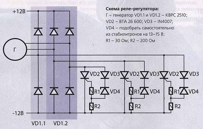 Схема реле-регулятора: Г