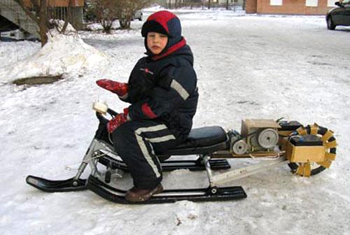 Мотор для снегохода своими руками