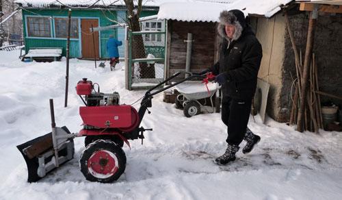 Как сделать мотоблок по снегу 932