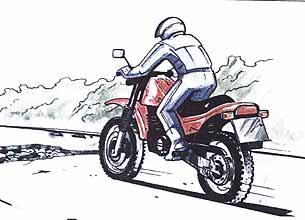 Действия водителя в критических ситуациях. Учебник водителя мотоцикла.