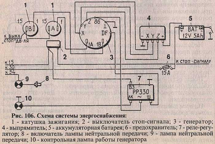 Реле регулятор я112б электрическая схема.