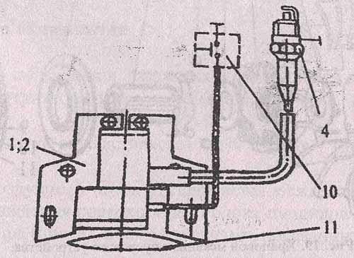 Схема системы зажигания с