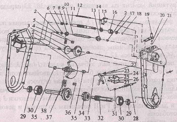редуктора мотоблока МБ-2.