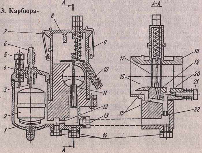 Схема карбюратора к-36р
