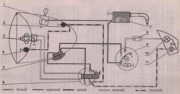 схема подключения замка зажигания ваз 2111