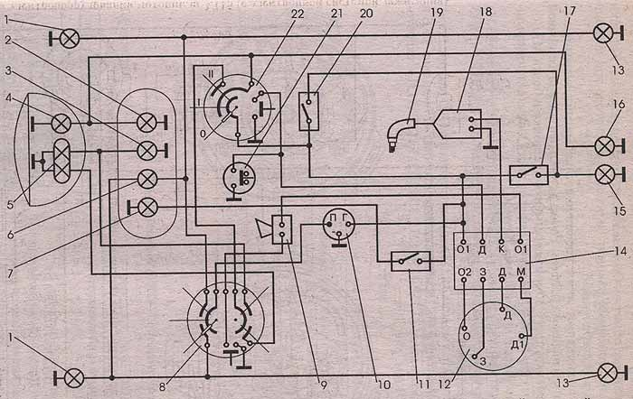 Рис. 3.4а. Схема электрооборудования мотоцикла 3.11211. Мотоцикл Минск, эксплуатация и ремонт.