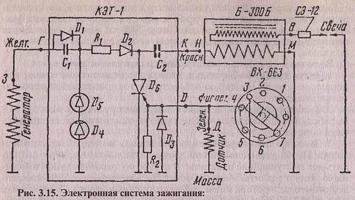 Схема электрооборудования ваз 2102 замок зажигания.