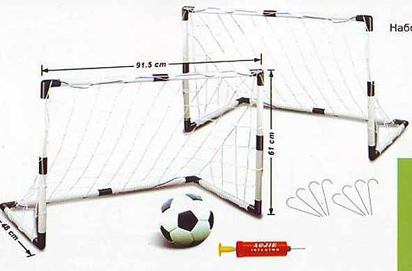 Сетка для футбольных ворот сделать своими руками