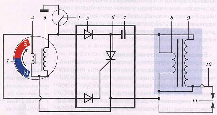 Искра-5 электронное зажигание схема подключения.