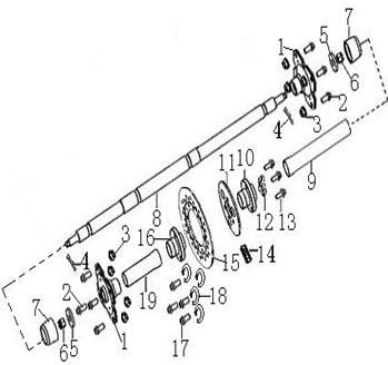 Схема заднего колеса велосипеда форвард