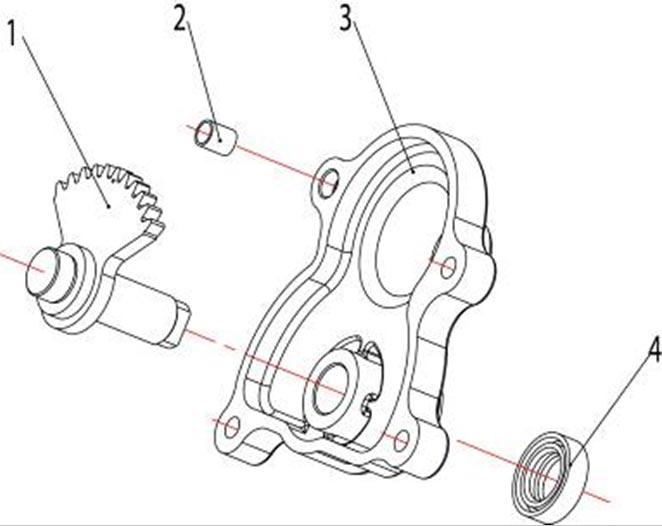 ATV Stels 500 GT, K каталог запчастей двигателя. Вал ручного стартера и крышка коробки передач.