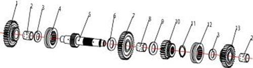 ATV Stels 500 GT, K каталог запчастей двигателя. Шестерни механизма переключения передач.