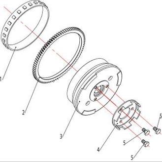 ATV Stels 500 GT, K каталог запчастей двигателя. Ротор магнето.