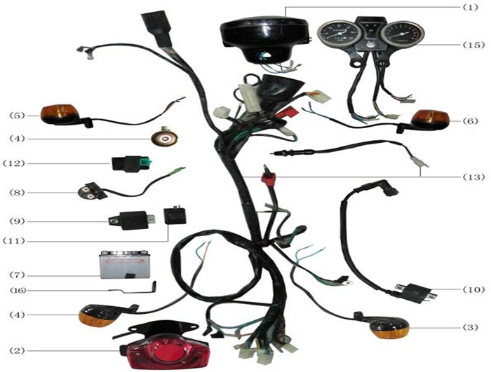 Мопед Orion 100 каталог деталей.METER Панель приборов, электрооборудование.