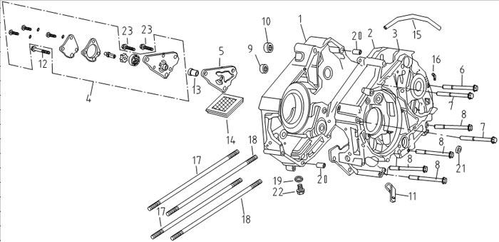 Двигатель альфа мопед схема