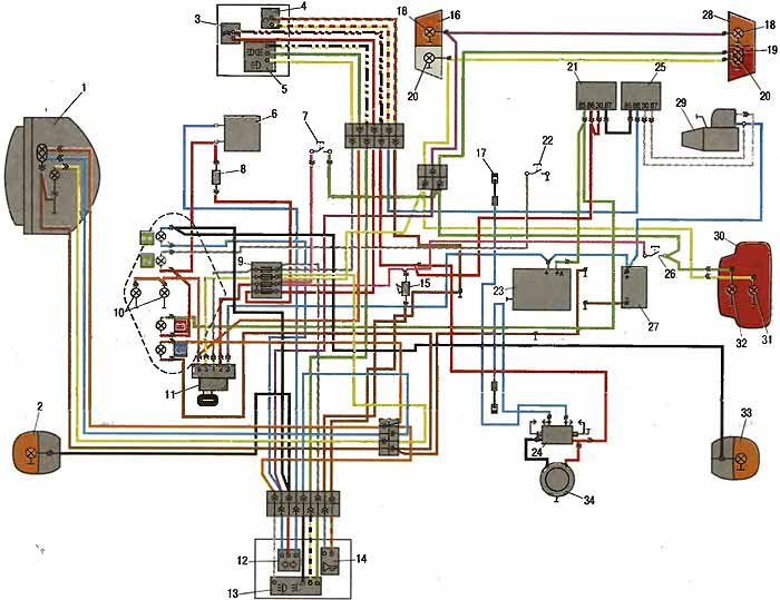 Схема электрооборудования ИМЗ 8.1037.