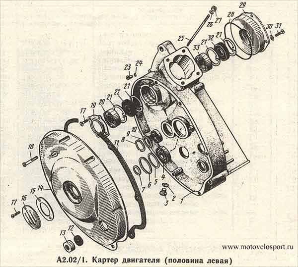 Картер двигателя ( половина левая.