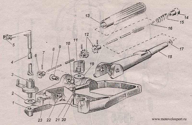 устройство мотора ветерок 12 пружина на ноге
