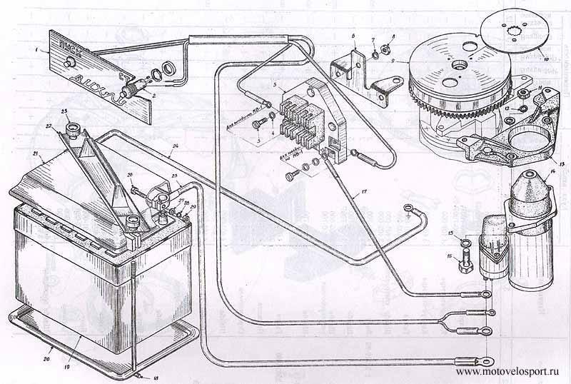схема электрооборудования лодочных моторов вихрь 30 электрон